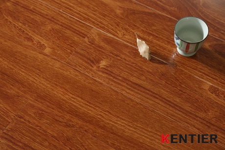 K1555-V-groove Laminate Flooring with Water Resistance Treatment