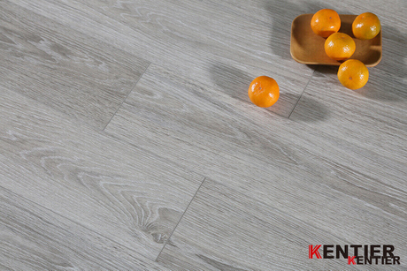 Oak Wood with Grey Color Dry Back PVC Flooring