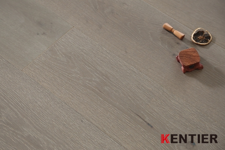 K5111-Brown Color Natural Oak Engineered Flooring with Heavy Brushed