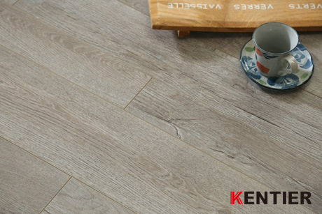 K48410-Oak Wood Texture Laminate Flooring with Grey Color