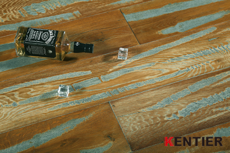 K1529-Oak Wire Brushed Engineered Wood Flooring at Kentier
