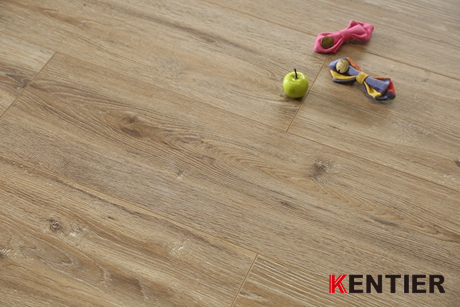 K39305-Walnut Wood Texture Laminate Flooring with Brown Color