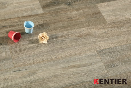 K2406-Grey Color Indoor Laminate Flooring with Padding Attached